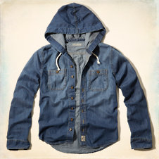 Fallbrook Hooded Denim Shirt