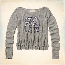 Little Dume Intarsia Sweater