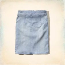 Dixon Lake Denim Pencil Skirt
