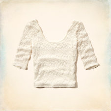 Boomer Beach Lace Slim Crop Top
