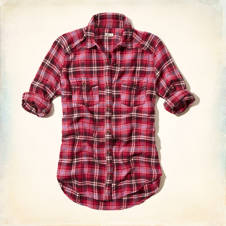 El Morro Longer Length Flannel Shirt