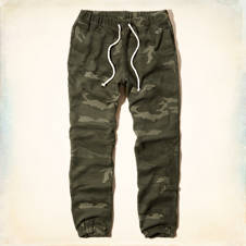 Hollister Cinched Fleece Jogger Pants