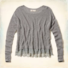Alcazar Lace Hem Sweater