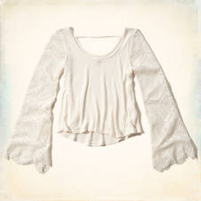 White Point Bell SleeveTop
