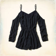 Dana Strands Cold Shoulder Romper