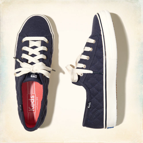 Girls Hollister Keds Quilted Double Up Sneakers Girls