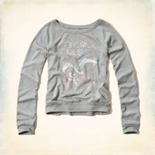 Shelter Islands Drapey Shine Sweatshirt