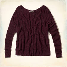 Pacific Coast Lightweight Cable Sweater