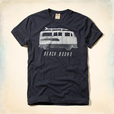 North Jetty Black & White Graphic T-Shirt