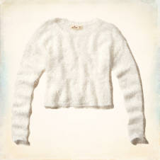 Imperial Beach Fuzzy Eyelash Sweater