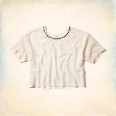 Salt Creek Shine Neckace Crop Top