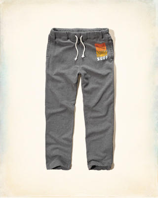 Hollister Graphic Fleece Sweatpants