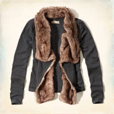 Woodson Mountain Faux Fur-Trimmed Sweatshirt