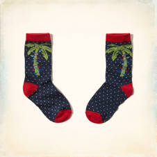 Palm Tree Graphic Socks