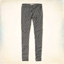 Holister Black & White Patterned Leggings