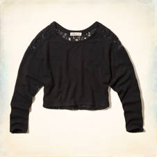 Surfriders Beach Lace Back Sweatshirt