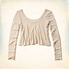 Ormond Beach Drapey Knit Shine T-Shirt