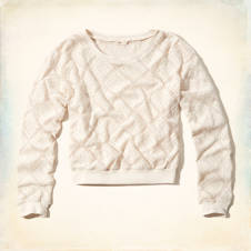 Victoria Beach Lace Sweatshirt