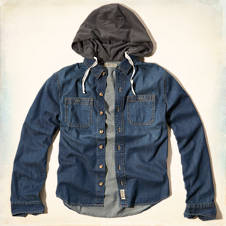 Bay Street Hooded Denim Shirt