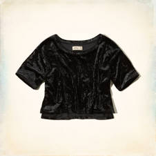 Faria Beach Velvet Crop Top