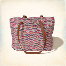 Vintage Patterned Tote