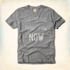 Yesterday Tomorrow Now Graphic T-Shirt