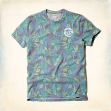 Printed Wave Graphic T-Shirt