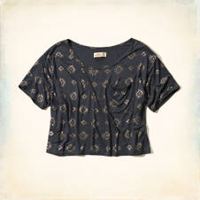Pearl Street Cropped Shine T-Shirt