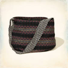 Patterned Hobo Bag