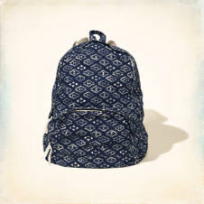 Vintage Printed Backpack