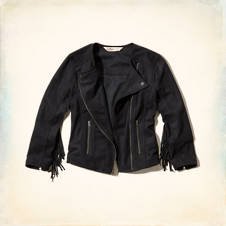 Little Dume Faux Suede Jacket