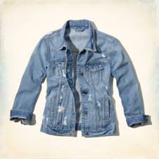 Hollister Boyfriend Fit Denim Jacket