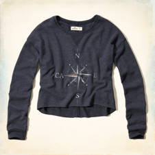 Celestial Graphic Cropped Sweatshirt