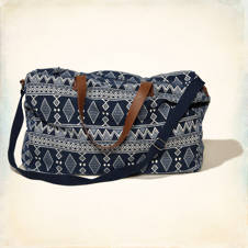Patterned Weekender Bag