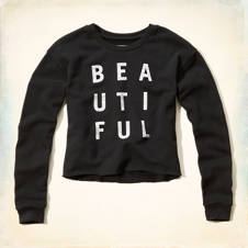 BEAUTIFUL Statement Graphic Sweatshirt