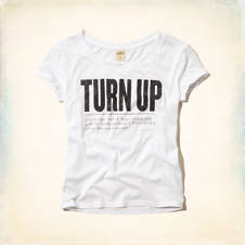 Turn Up Graphic T-Shirt