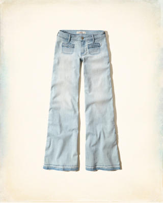 Hollister Wide Leg Flare Jeans