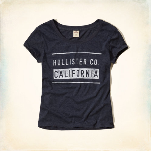 Girls Hollister Graphic T-Shirt | Girls Clearance ...