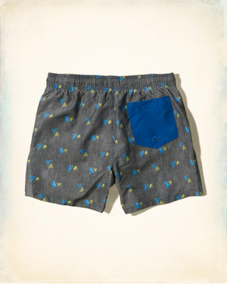 Pattern Guard Fit Swim Shorts