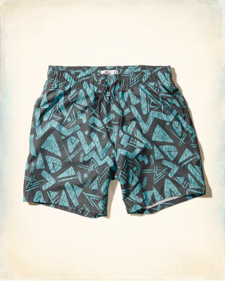 All-Over Print Beach Prep Pull-On Swim Shorts