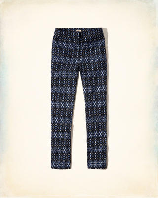 Printed Skimmer Pants