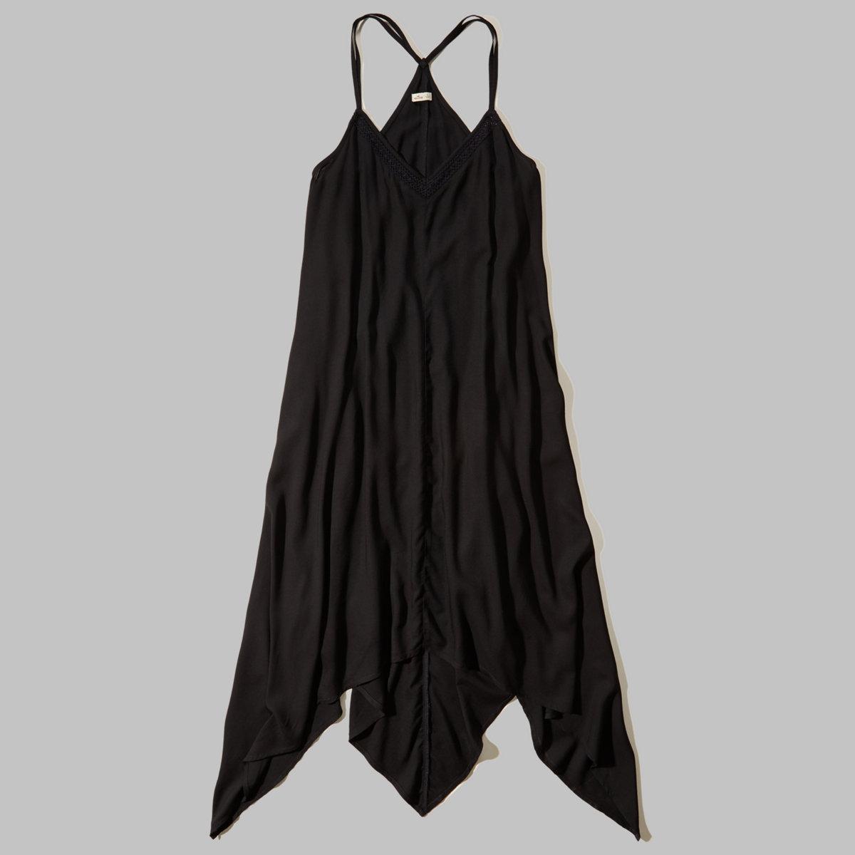 Scarf Hem Maxi Dress