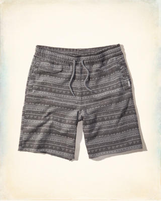 Hollister Fleece Pattern Jogger Shorts