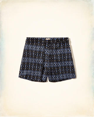 Pattern Pleated Shorts