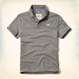 Pattern Placket Polo