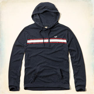 Chest Stripe T-Shirt Hoodie