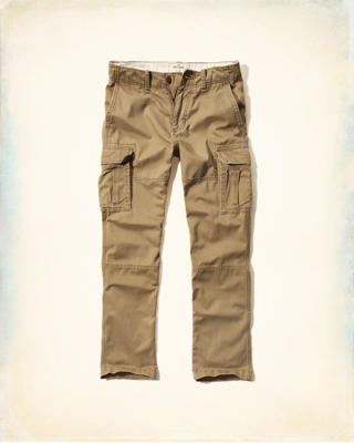 Hollister Slim Cargo Zipper Fly Pants