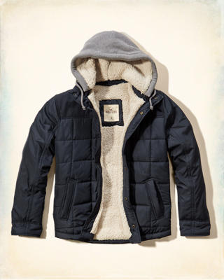 Quilted Nylon Twofer Jacket