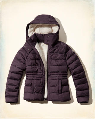 Hollister Sherpa Lined Puffer Jacket