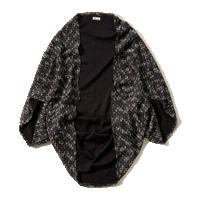 Textured Cocoon Kimono